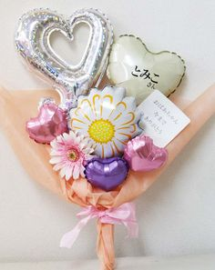 バンチ Gift Bouquet, Candy Bouquet, Balloon Bouquet, Mini Balloons, Mylar Balloons, Birthday Balloons, Balloon Arrangements, Balloon Centerpieces, Balloon Decorations