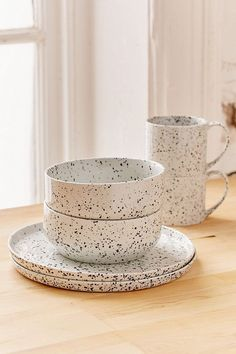 Shop Speckled Dinnerware Set at Urban Outfitters today. We carry all the latest styles, colors and brands for you to choose from right here. Ceramic Plates, Ceramic Pottery, Urban Outfitters Home, Urban Outfitters Apartment, Amazon Home Decor, Dinnerware Sets, Terrazzo, Cheap Home Decor, Kitchen Accessories