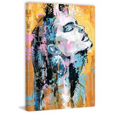 'Glamour Pose' Painting Print on Wrapped