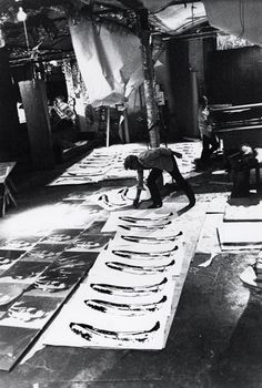 "pikeys: Andy Warhol inside ""The Factory"", where he developed his signature artistic process"