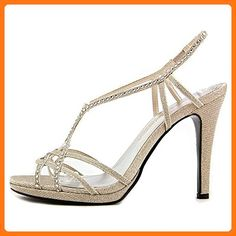cdfa498e04d Caparros Womens SUNDAY Open Toe Bridal   Wedding Ankle Strap Sandals