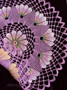 Lilac doily 2 in 1