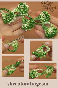 Crochet Shell Motif Lace Tutorial 32 Crochet beaded shell motif lace was made with Steel Crochet Hook (which is US standard) or mm and with yarn: Cotton, beads: d – 8 mm. Crochet Leaves, Crochet Motifs, Freeform Crochet, Crochet Trim, Bead Crochet, Irish Crochet, Crochet Crafts, Crochet Earrings, Diy Crafts