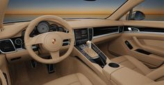 One's first impression upon climbing behind the wheel of the new Panamera is that which only a Porsche can deliver. With its stunning ascending center console, it is unlike any other sedan one will see. This is due in large part to its sports car demeanor and heritage. The extremely short distance between the gear selector and the height- and reach-adjustable steering wheel lends itself to the sports car handling expected of a Porsche.