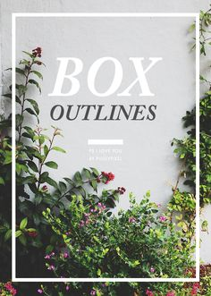how to make box outlines in photoshop, from Pugly Pixel