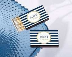 Kate Aspen Personalized Matchbooks - Nautical Design (Set of 50) | Personalized Gifts and Party Favors
