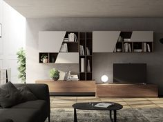 Contemporary Italian Furniture for Sale Living Room Tv, Living Room Modern, Home And Living, Living Area, Living Room Designs, Living Spaces, Modular Furniture, Modern Furniture, Home Furniture