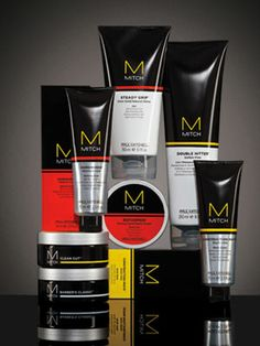 """""""Style isn't born. It's groomed!"""" Mitch is an exclusive line made for men to discover their style. Including Double Hitter Shampoo and creams and gels that vary in the amount of hold and shine desired to become irresistible."""