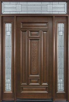 Are you looking for the best wooden doors for your home that suits perfectly? Then come and see our new content Wooden Main Door Design Ideas. Wood Entry Doors, Wood Exterior Door, The Doors, Wooden Doors, Entrance Doors, Rustic Exterior, Door Entryway, Panel Doors, Office Entrance