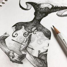 Drawlloween Esboços estilo Gore - Arte no Papel Online Dark Art Drawings, Cool Drawings, Dark Fantasy Art, Sketchbook Inspiration, Art Sketchbook, Art And Illustration, Arte Inspo, Dessin Old School, Creepy Art
