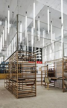 themeing inspiration - neon lighting, timber, screen walls, warehouse, industrial