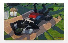 Kerry James Marshall, Untitled (Blanket Couple) (2014). Courtesy David Zwirner.
