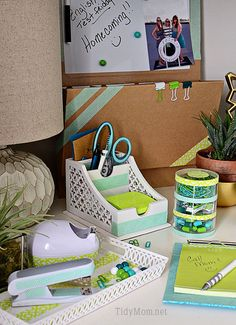 DIY Customized Desk Accessories using Scotch Expressions Tape at TidyMom.net #ScotchBTS
