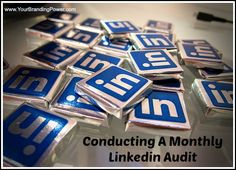 Conducting A Monthly LinkedIn Audit #linkedin #socialmedia