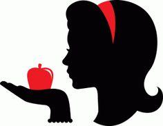 Snow White silhouette clipart