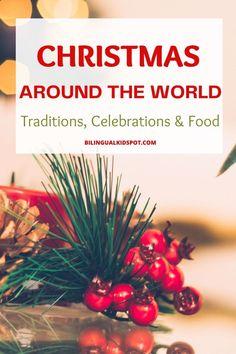 Christmas Around The World: traditions, celebrations and food. Holidays Around The World, Around The Worlds, Celebration Around The World, Christmas Carol, Christmas Traditions, Christmas Tree Decorations, Celebrations, Raising, Fun