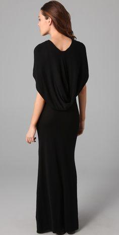 hooded fine knit maxi dress - back