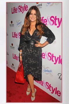 Buy it: Khloe Kardashian's Black Silk Dress and Platform Sandals