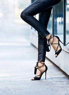 Leather + heels.