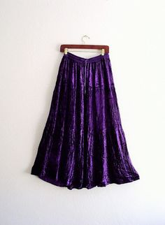 Gypsy Purple Velvet Tiered Maxi Skirt by KheGreen on Etsy