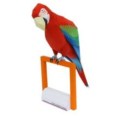 Green-winged macaw,Animals,Paper Craft,North America / South America,South America,red,Parrot,Birds,Animals,Paper Craft,bird,Parakeet