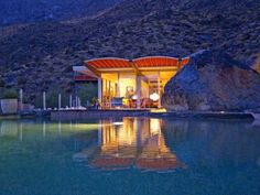 Albert Frey's Russell House: Pool Reflection View by JoeInSouthernCA, via Flickr