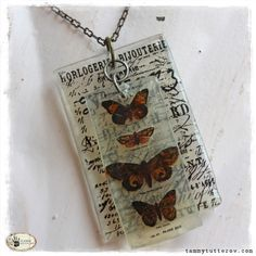 Gives me an idea of how to make a cool necklace using one of my international postage stamps