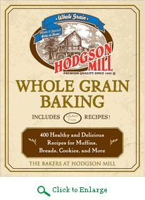 400 whole grain recipes including100 gluten free and  50 bread machine recipes  in Hodgson Mill Whole Grain Baking Cookbook.  http://www.veggiesensations.com/products/hodgson-mill-whole-grain-baking-and-bread-cookbook