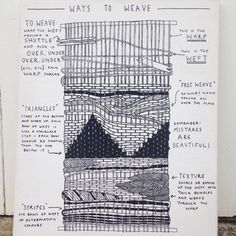 Excellent Cost-Free hand weaving patterns Concepts I will be on hand at the festival teaching people how to weave, but here is the diagram I have draw Weaving Textiles, Weaving Patterns, Tapestry Weaving, Stitch Patterns, Knitting Patterns, Weaving Loom Diy, Weaving Wall Hanging, Weaving Projects, Weaving Techniques