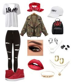 """""""BTS Mic Drop Outfit"""" by dumaguina on Polyvore featuring Topshop, Sans Souci, T-shirt & Jeans, Vans, SO, Cents of Style, London Fog, Charlotte Russe, kpop and bts"""