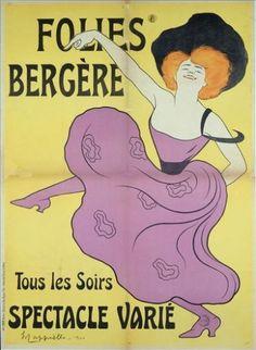 Folies Bergère, tous les soirs spectacle varié, poster by Leonetto Cappiello, 1900 Paris in the would be a dream. Cabaret, Belle Epoque, Vintage Ads, Vintage Posters, Vintage Graphic, Cafe Concert, Paris 1900, Paris France, Folies Bergeres