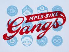 mpls bike gangs art crank poster by Peters