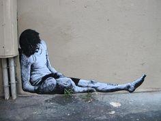 Levalet Banksy Art, Graffiti Murals, Art Mural, Bansky, Street Mural, 3d Street Art, Street Art Graffiti, Street Art Utopia, Freaky Deaky