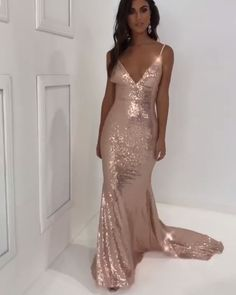 Live your fairytale fantasy with this magical mermaid long champagne prom dress sparkly. 2019 Great Selections for your Prom. All Sizes & Styles & Colors. Online Service · Fast Shipping · High Quality Lower Price · Made-To-Order Sparkly Prom Dresses, Top Wedding Dresses, Wedding Dress Trends, Grad Dresses, Mermaid Prom Dresses, Bridesmaid Dresses, Long Dresses, Bridal Dresses, Champagne Prom Dresses