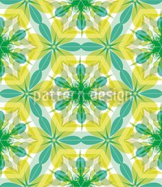 Kaleidoscope Extreme Mint created by Martina Stadler offered as a vector file on patterndesigns.com
