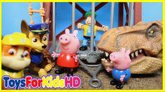 Peppa la Cerdita y Videos de Dinosaurios para niños La Patrulla Canina /Videos de Peppa Pig español