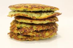 Zucchini and Haloumi Fritters made in the pancake maker.