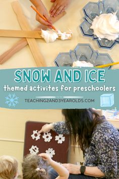 We love to kick off winter with a toddler and preschool snow and ice theme. Even if the temperature in your area is mild, these activities will invite your children to experience cold with fun hands-on ideas. Free printables included! #snow #ice #theme #classroom #printables #curriculum #activities #winter #toddler #preschool #2yearolds #3yearolds #teaching2and3yearolds Weather Activities Preschool, Winter Activities, Toddler Preschool, Preschool Activities, Snow Theme, Winter Theme, Fun Crafts, Crafts For Kids, Snow And Ice