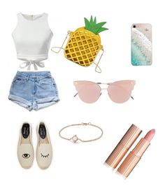 """""""#summervibes"""" by andreeaberecz on Polyvore featuring Levi's, Soludos, So.Ya, Gray Malin and David Yurman"""