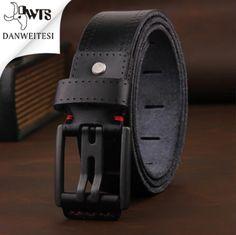 Sun-weathered Leather Black Belt Steel Buckle S Men/'s Size Small Billabong