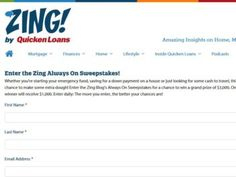The Quicken Loans – The Zing Always On Sweepstakes