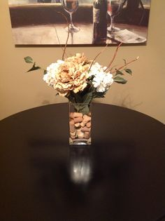 Centerpieces For Kitchen Table My new centerpiece for my kitchen table home decor pinterest centerpiece for kitchen table bought vase flowers and sticks from hobby workwithnaturefo