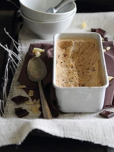 Dark Chocolate Gingerbread Ice Cream