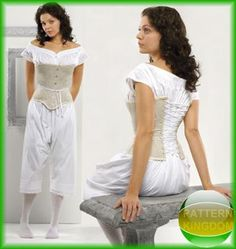 Simplicity 2890 Victorian Drawers, Chemise & Corset Patterns