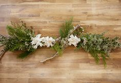 In this class, Alethea and Jill of Studio Choo show you how to make a festive holiday garland using seasonal greenery. The garland uses a branch as a base for a clean, modern take on holiday garlands. You'll see how to work with seasonal greenery including boxwood, cedar, wax flower, and seeded eucalyptus branches. A fragrant gardenia adds an unexpected touch of elegance. Throughout the class, Althea shares her philosophy for creating an organic design and teaches the basics of wire wrapping…