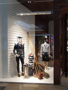 GANT windows, London visual merchandising