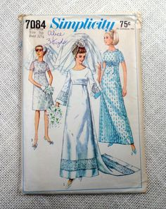 Vintage sewing pattern Simplicity 7084 by momandpopcultureshop