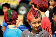 "Wouldn't your students love a ""Wacky Hair"" booth at your school carnival? Organize volunteers for this booth and every other part of your carnival by creating a free sign up with www.SignUpGenius.com #SpringCarnival #Booth"