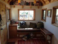 Ceiling bookshelf space