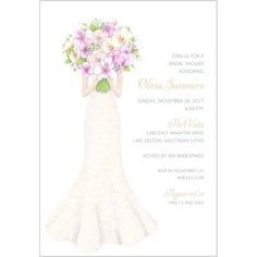 Peek-a-boo Bouquet Bridal Shower Invitation   Storkie.com